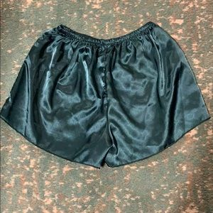 Teal lounge shorts